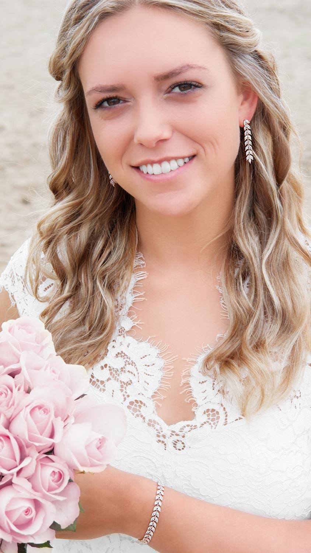 Mooie bruids armband in een rose gouden kleur om te kopen