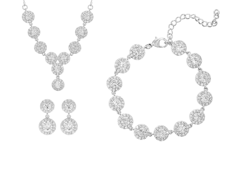 Wonderlijk Sieradenset Bruiloft | Zilveren Bruidssieraden Klassiek | DRKS MF-28