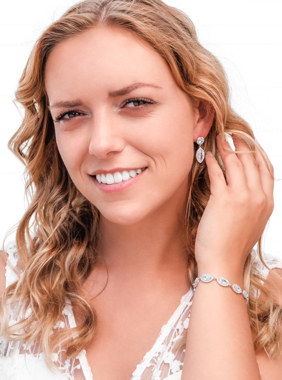 Zilveren sparkle armband in sieradendoosje