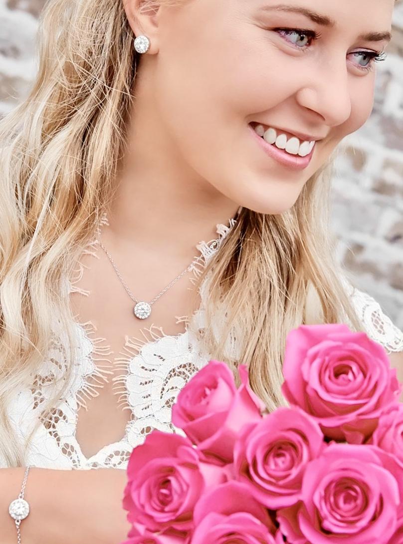 Prachtige sieradenset voor de prachtige bruid om te dragen
