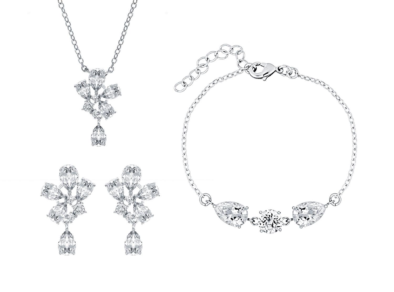 Trouwsieraden set sparkle met zilveren sieraden
