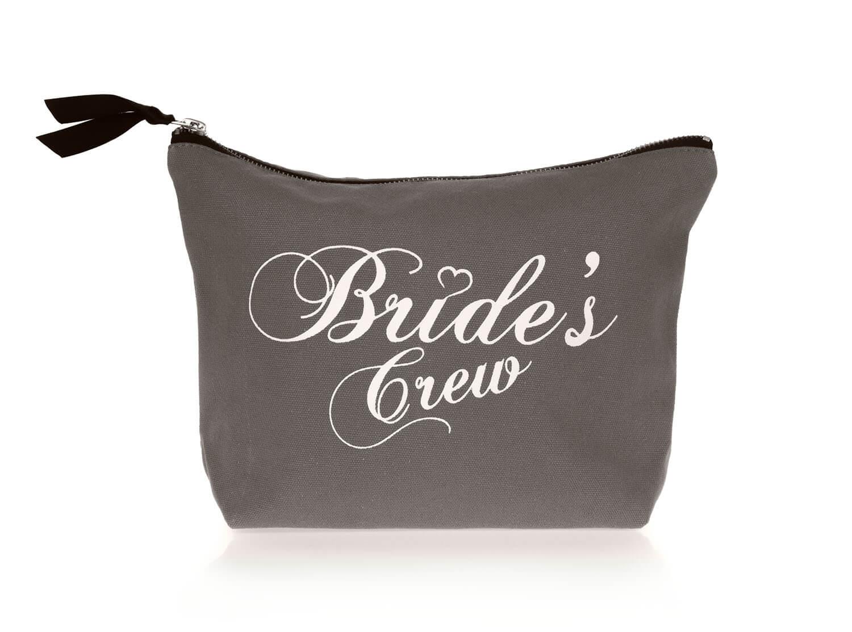 Grijze bride's crew toilettas