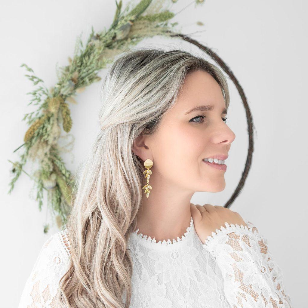 gouden bohemian oorbellen voor de bruid
