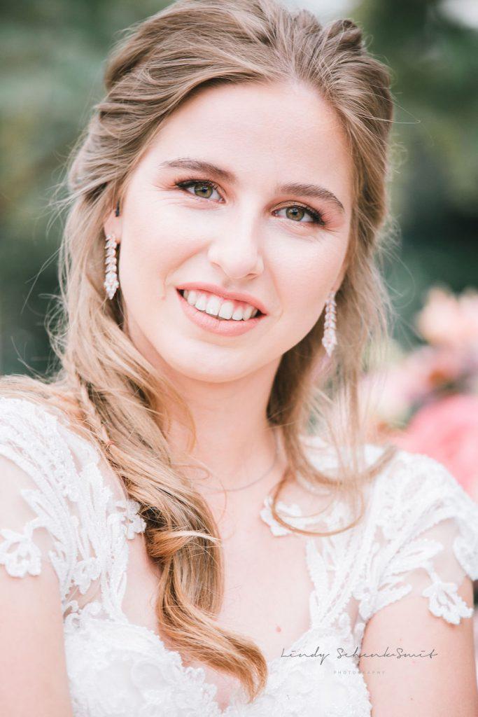 rose gouden sieraden bij bruid