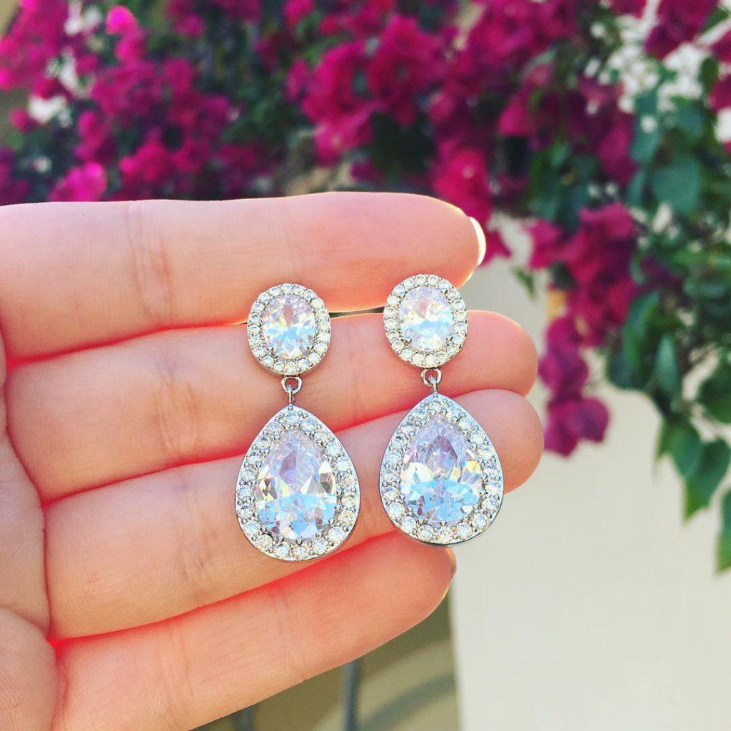 zilveren luxe oorbellen van drks