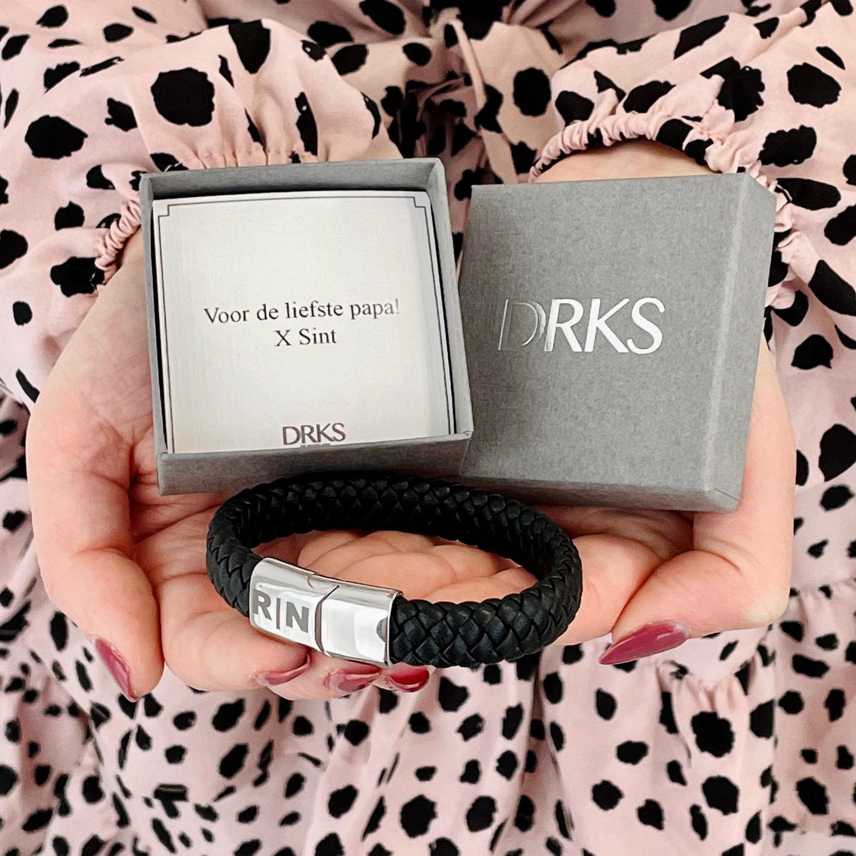 mannen armband met sieradendoosje met persoonlijke tekst