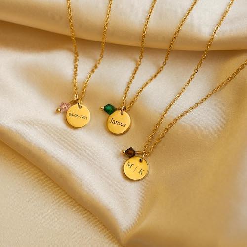 birthstone kettingen goud