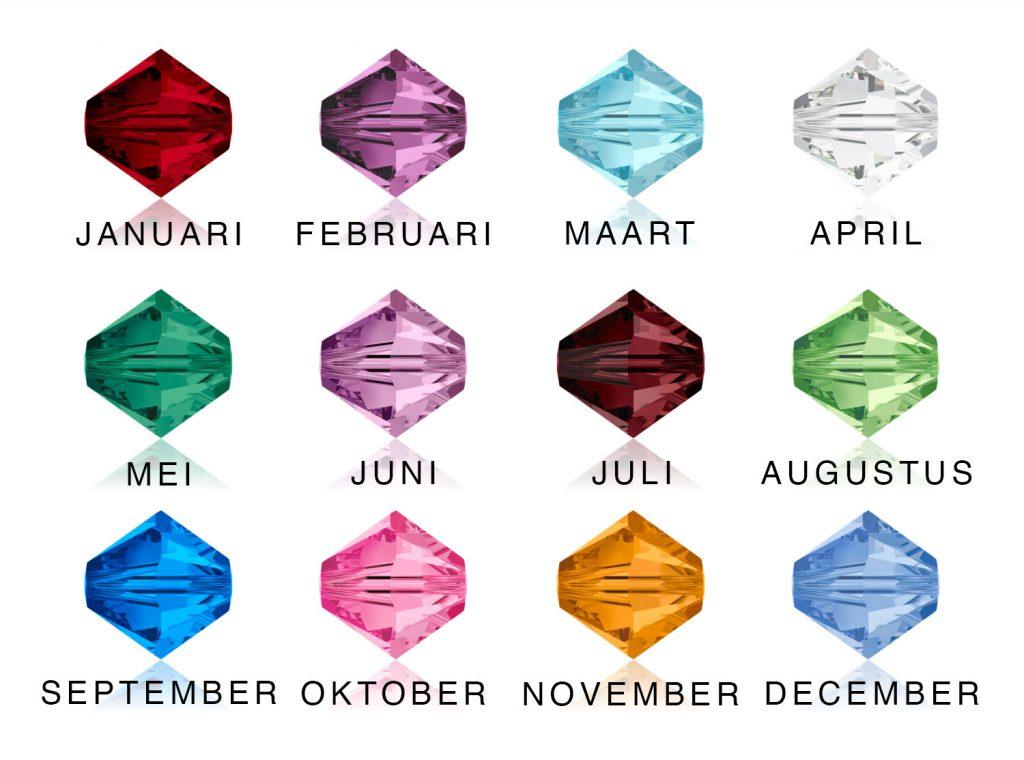 verschillende swarosvki birthstones