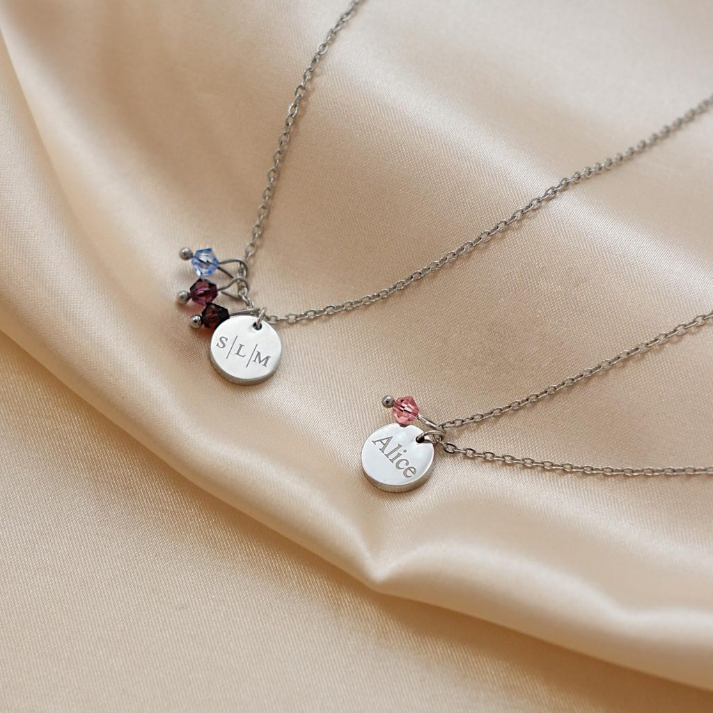 zilveren kettingen birthstone
