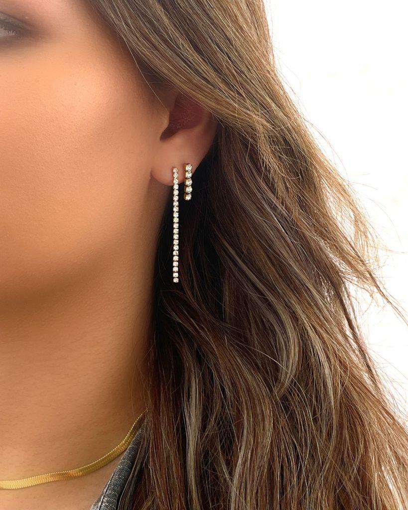 earparty van tennis oorbellen