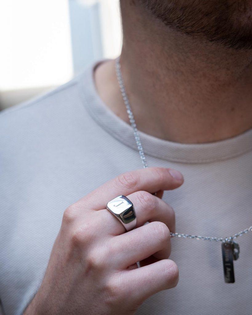 Zilveren heren ring