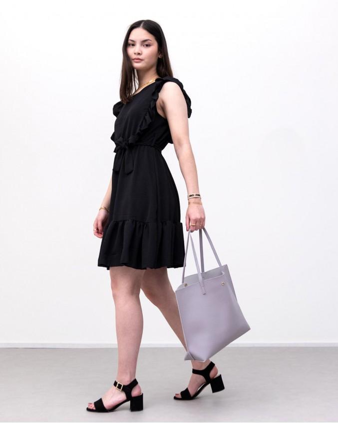 lila shopper tas