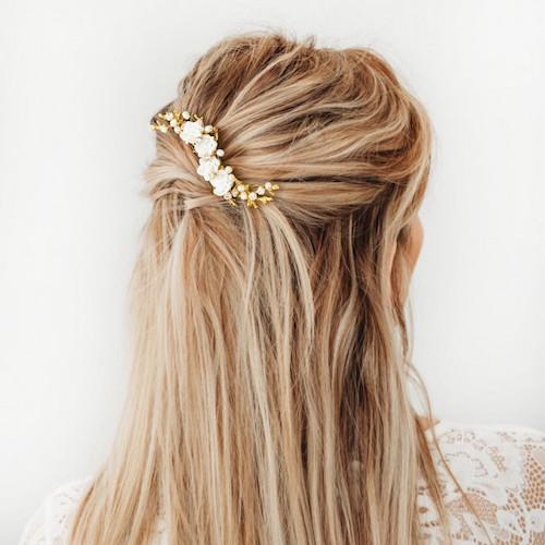haaraccessoires bruid goudkleurig