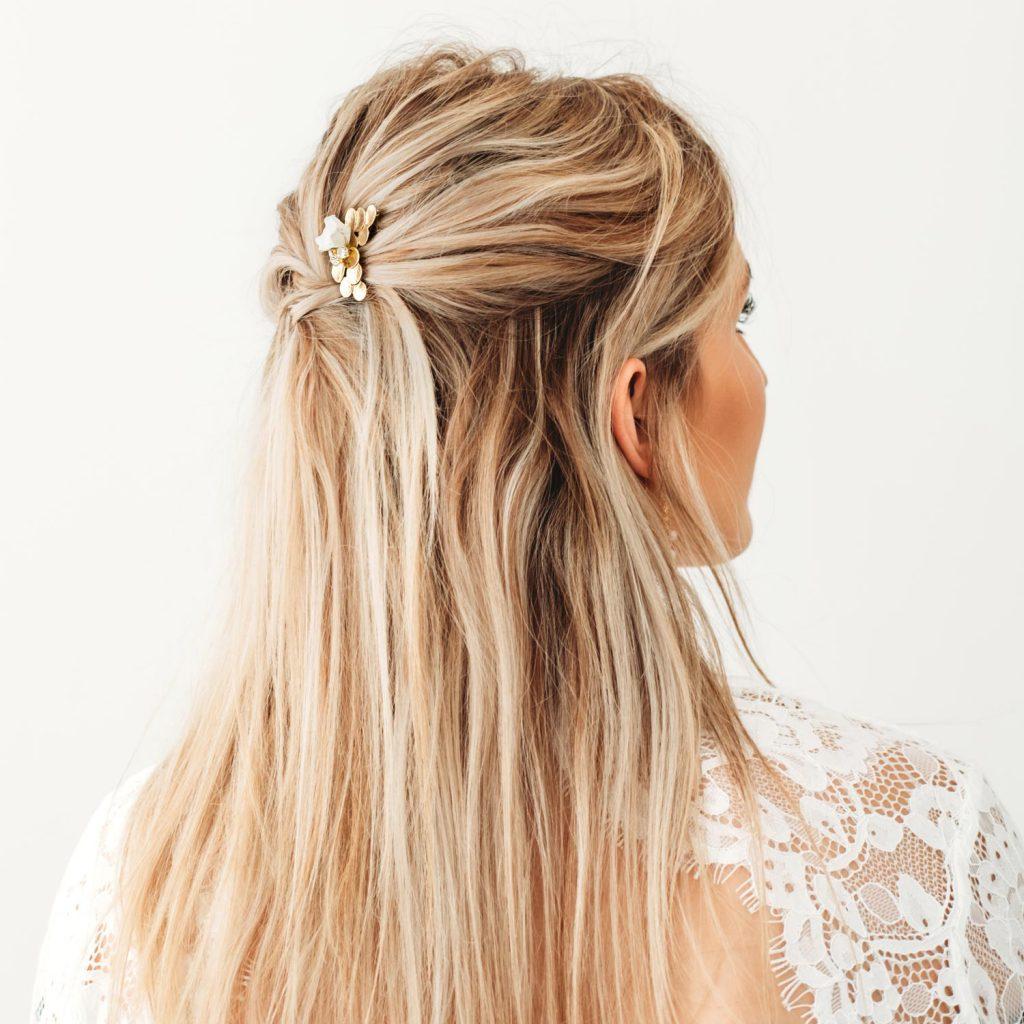 Haarpin goudkleurig bruids accessoire